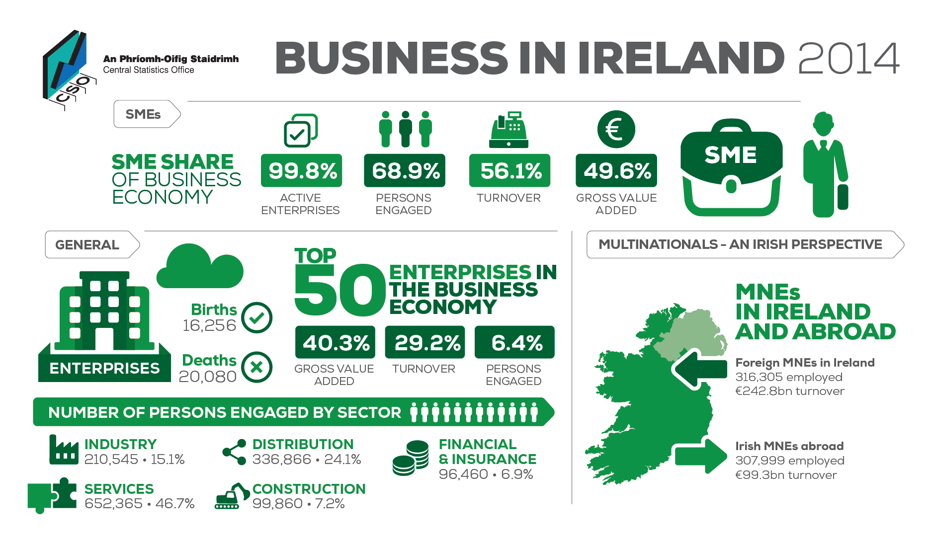 Business in Ireland 2014 Infographic image