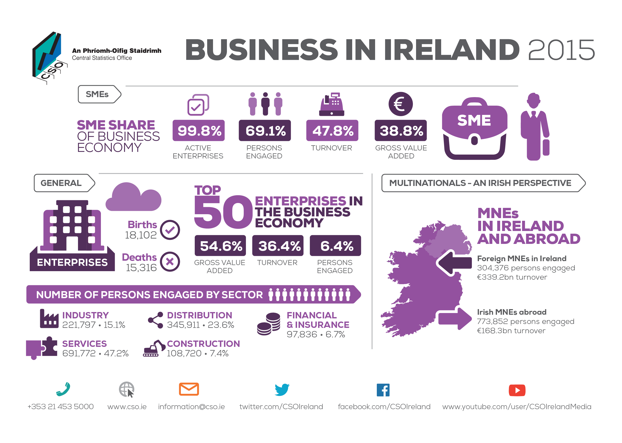 Business in Ireland 2015 Infographic image