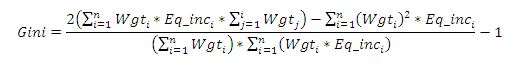 Gini Equation 1